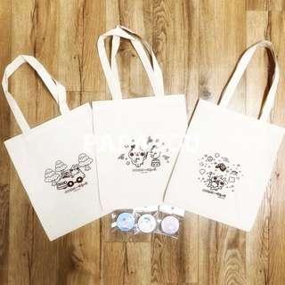 BN Kanahei's Piske & Usagi Tote bag (3 designs)