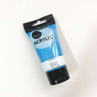Daler Rowney Light Blue Acrylic Paint