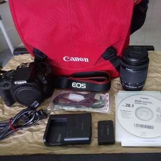 CANON 100D with 18-55mm lense and CANON crumpler bag