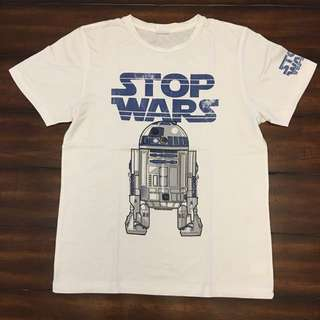 The Perfect White Tee with Stop Wars Print