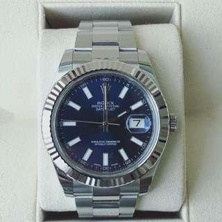 Rolex DateJust II ( Blue Dial)