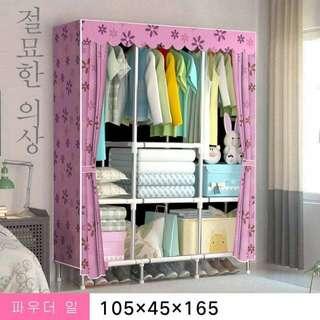 DIY Cabinet Wardrobe Organizer with Curtain