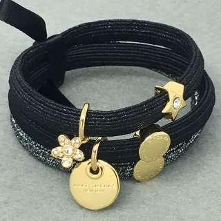 Marc Jacobs Sample Hair Band Bracelet 黑金色閃石星星花花橡筋組合