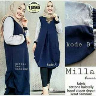 Pakaian Muslim Hijab Mila Tunik