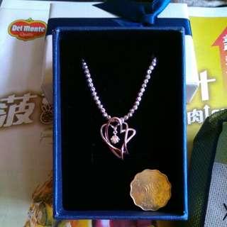 謝瑞麟18K鑽石心連心吊咀(鏈另賣)