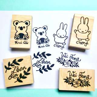 Customised Name Rubber Stamp
