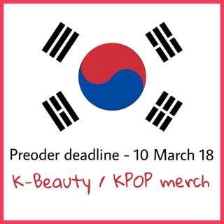 K-Beauty / KPOP Merch Preorder