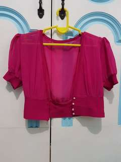 Fuschia Pink Bolero