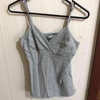 BNWT valleygirl grey cami top