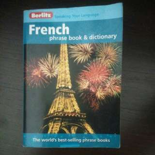 Berlitz french phrase book and dictionary