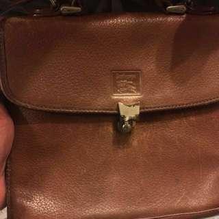 中古 Burberry bag 💼 100 % leather vintage Dior Lv Gucci