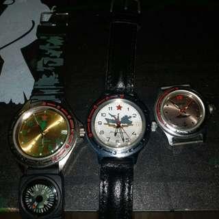 蘇聯機械錶 3隻
