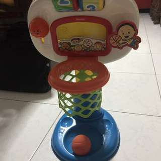 Fisher Price Brilliant Basics Dunk n Cheer Basketball