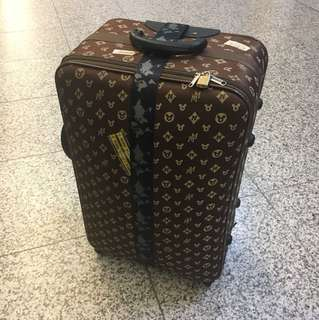 Mickey Mouse brown luggage 24', 4-wheeled