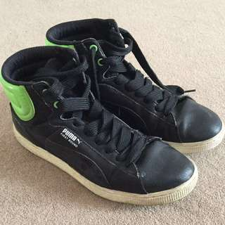 Puma Neon green/black shoes