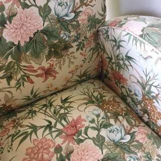 Lovely floral vintage armchair
