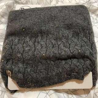 Original Buff Neckwarmer Knitted And Polar Fleece lined