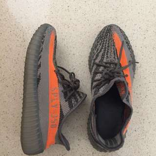 The Grey/Orange Yeezy Boost 👟