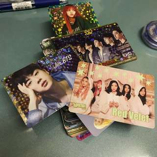 Kpop idols 韓星 yes cards (EXO, BTS, Red Velvet, Blackpink) (~86 cards -+3)