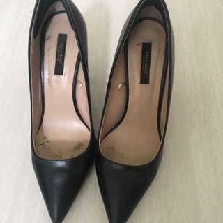 Zara Black High Heel Shoes