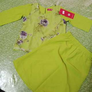 Baju Kurung Chiffon Lace