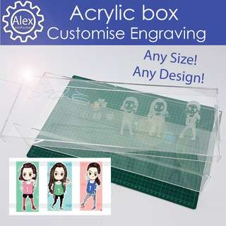 Customised Acrylic Box Engraving - Customise your Boxes for Events, Shop Display, Weddings and More!