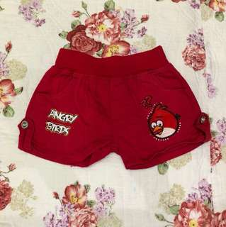 Red Angry Birds Shorts