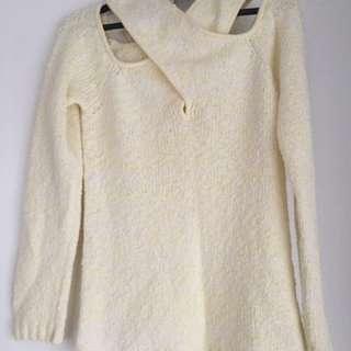 RUBY BOUTIQUE crop shoulder knit jumper