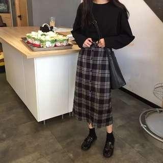 🚚 格紋長裙