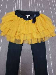 Legging with tutu skirt