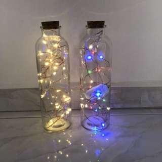 Fairy Lights & Glass bottles