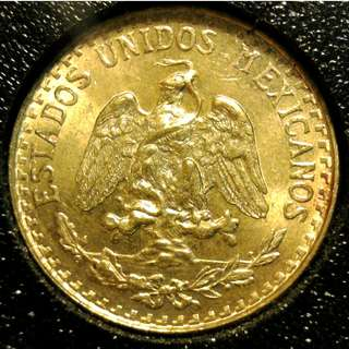1945 Mexico Gold Dos Pesos