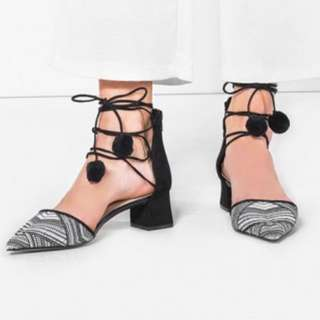 Charles & Keith Lace Up Sandals