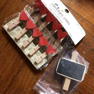 Heart shape clips