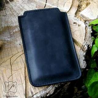 皮革手機直插套 手機殼 手機套 leather iphone phone case sleeve pouch DIY