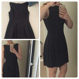 Bysi black shift dress flare