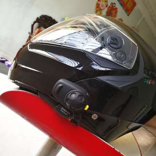 used Cabery flip-up full face helmet, size M