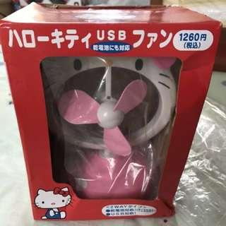 全新Hello Kitty USB座枱迷你風扇
