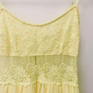 Summery Yellow Dress