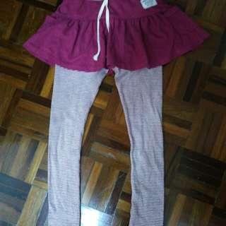 12-14yrs Korea Girls Skirt legging 2in1