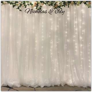 Tulle Backdrop for Wedding / Solemnization / Birthday Parties