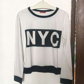 Logo Jeans NYC long sleeve shirt