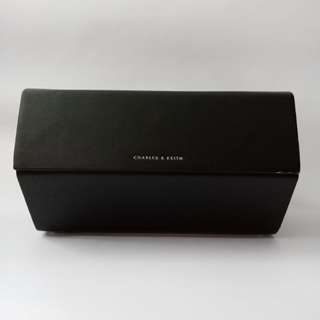 Charles And Keith Bag (Black Boxy Clutch)