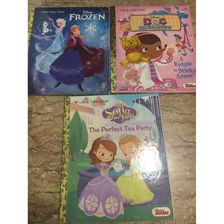 A little golden book : Sofia the first, doc mcstuffin, Frozen - almost like brand new