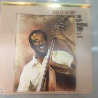 Ray Brown Trio Featuring Gene Harris – Soular Energy, Japan Press Vinyl LP, The Super Analogue Disc, Concord Jazz – K35P 70008, 1987, no OBI