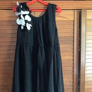 Used Black Chiffon Dress
