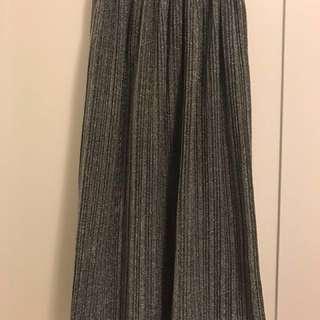 銀蔥半身百褶裙