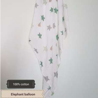 READY STOCK Large muslin swaddle blanket/ bedung selimut