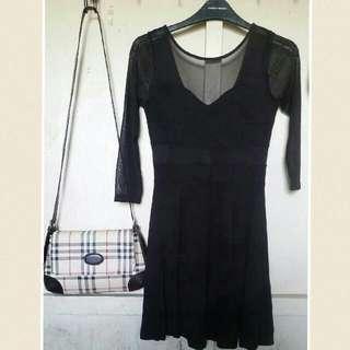 H&M Black Mesh Dress