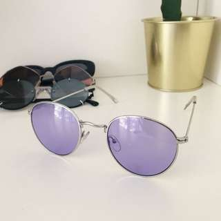 Asos purple retro sunglasses